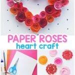 Papieren rozen hart